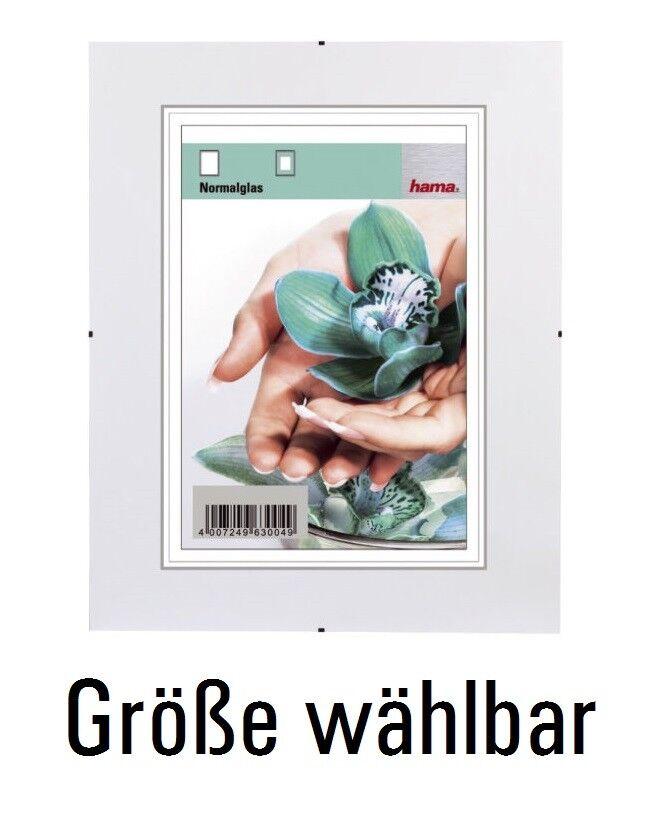 Hama® Rahmenlose Bilderhalter Clip-Fix, Größe wählbar