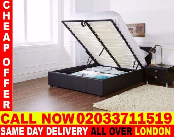 Brand New King Size Leather Storage Bed Available With Mattress Houston