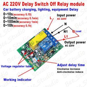 AC 220v 230v Delay Timing Timer Delay Switch Turn Off