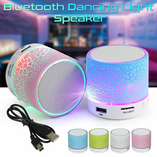 Mini Bluetooth Lautsprecher LED MP3 FM Radio Musik Box Speaker Handy Tablet TF