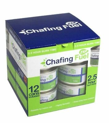 12x Chafing Dish Fuel Gel Cans 2.5 Hour Non Toxic,Catering, Smokeless, Buffet