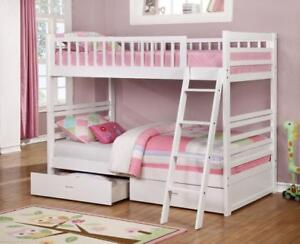 Free Delivery In Ottawa Twin Bunk Bed With Storage Drawers Brand New