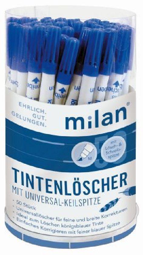 50 x Milan Tintenlöscher Tintenkiller mit Keilspitze Universalspitze