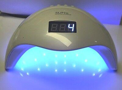 48W Sun5 LED Nagel Licht UV Lampe Maniküre Trockner Aushärtung Gel Nagellack DE