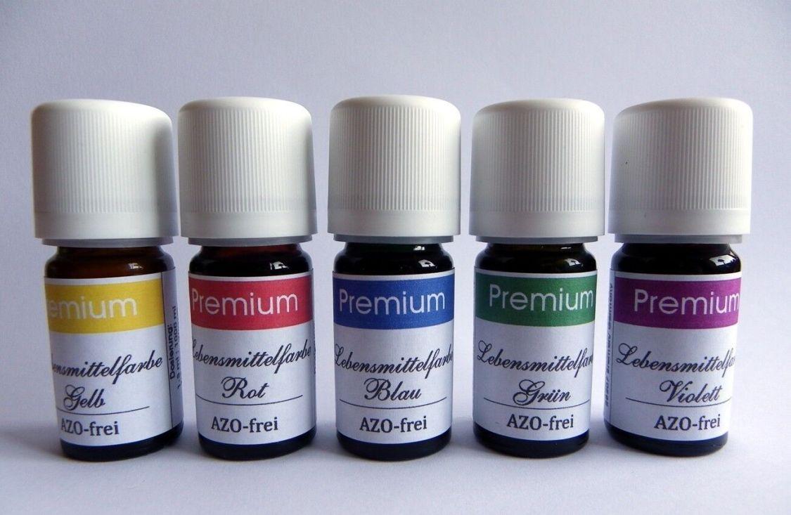 PROFI Lebensmittelfarbe AZOFREI, flüssig  konzentriert 3er/4er/5er SET-  Auswahl