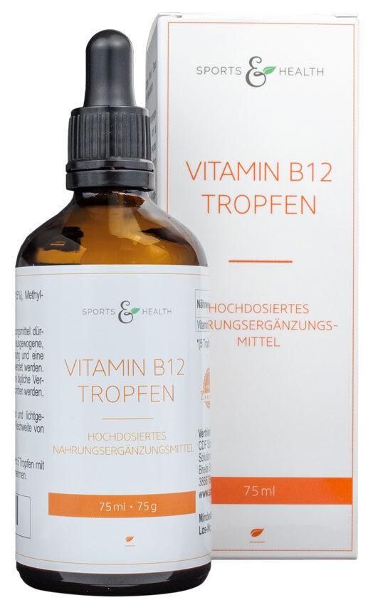 Vitamin B12 Tropfen Hochdosiert - Methylcobalamin - 1000 µg pro Portion / 200µg