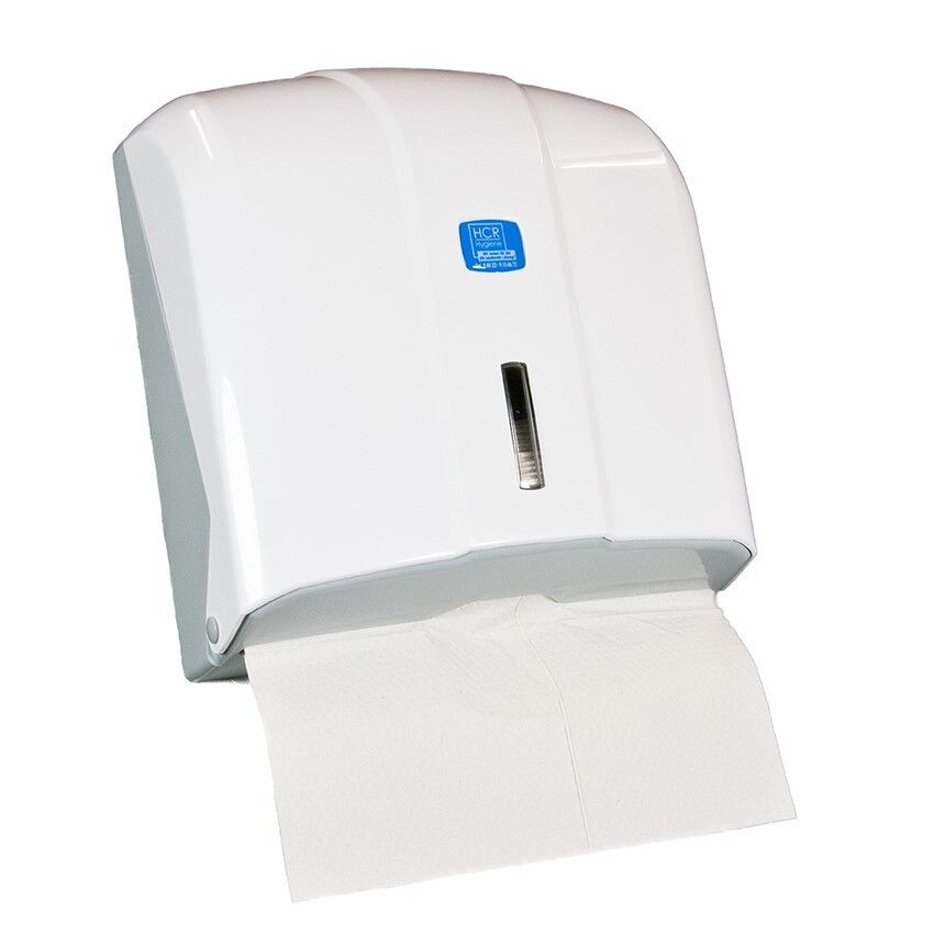 Handtuchspender, Papierhandtuchspender, Papierspender transparent, weiß, chrom