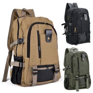 Men Retro Canvas Backpack Rucksack Travel Sport Schoolbag Laptop Hiking Book Bag
