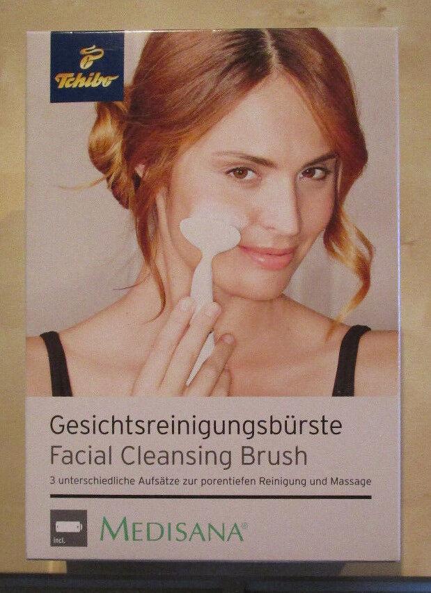 Medisana, Gesichtsreinigungsbürste, elektr. Reinigungsb. mit 3 Aufsätzen, NEU
