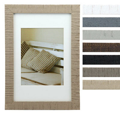 Driftwood Holz Bilderrahmen mit Passepartout 13x18 cm bis 60x80 cm Foto Rahmen