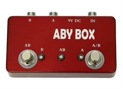 Hand Made ABY Switch Box For Effects Pedal-TRUE BYPASS Amp / Guitar !