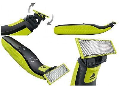 PHILIPS One Blade QP2520/20 Elektro Rasierer abwaschbar Bartschneider 3 Aufsätze