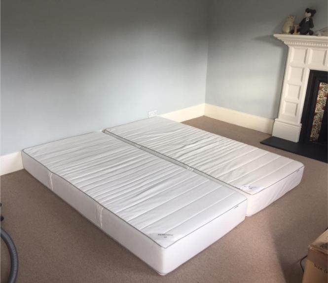 2x Ikea Sultan Finnvik Memory Foam Mattresses