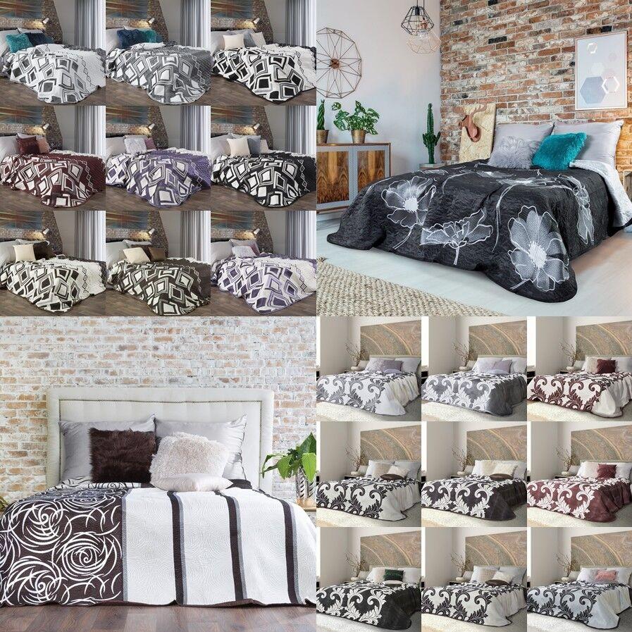 TOP Zweiseitige Tagesdecke doppelseitig Bettüberwurf 220X240 230x260 170x210