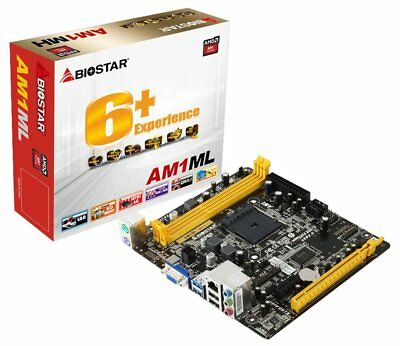 Mainboard - Biostar AM1ML    Sockel AM1   Micro - ATX   NEU