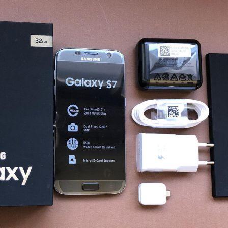 SAMSUNG-GALAXY-S7-32GB-ORIGINAL-Negro-LIBRE-GARANTIA-1-AO-CAJA-ACCESORIOS