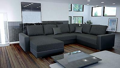 Couchgarnitur Couch Garnitur Sofa STY. 3 U Schlaffunktion Wohnlandschaft