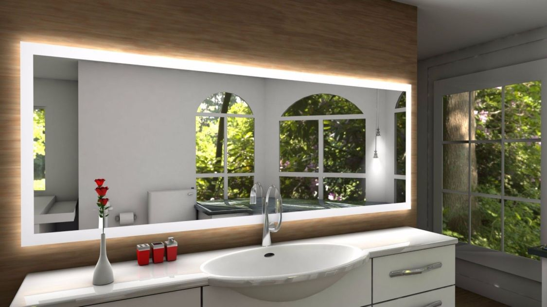 Badspiegel SETE mit LED Beleuchtung Badezimmerspiegel Bad Spiegel Wandspiegel