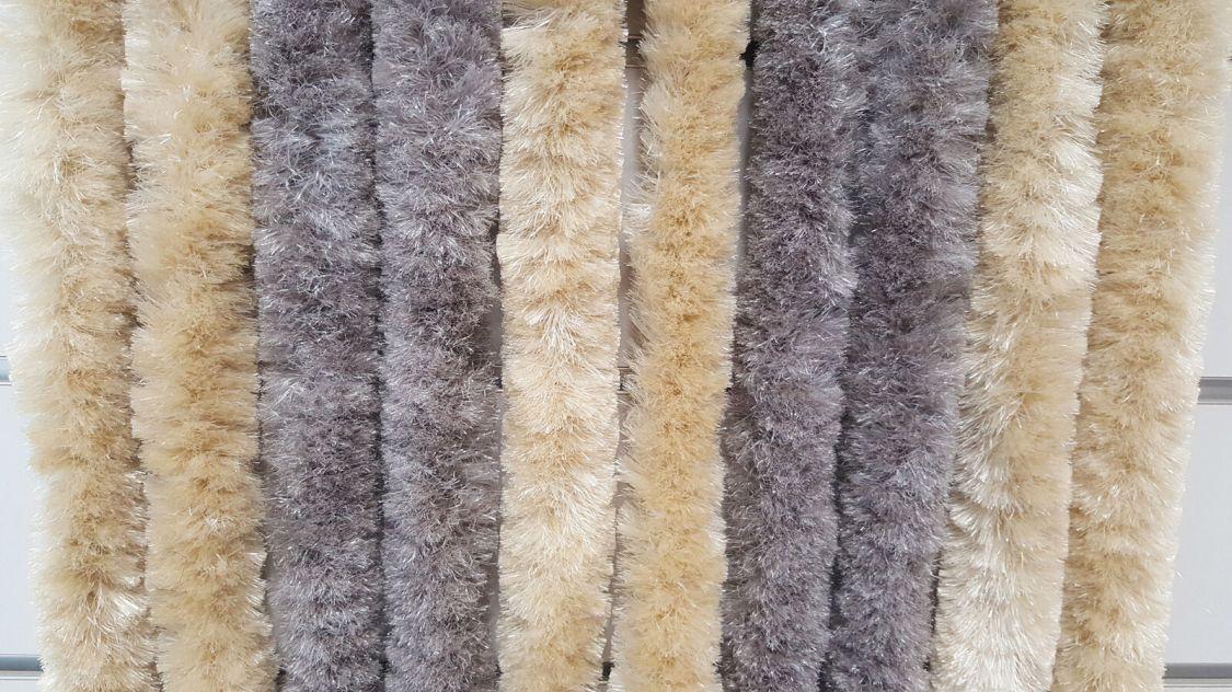Flauschvorhang braun/beige Türvorhang Insektenschutz Vorhang Hitzeschutz