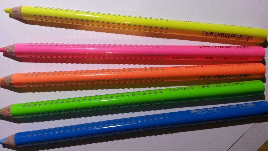 Faber Castell Textmarker NEON  Jumbo Grip 5 St. nach Wahl oder einzelne Farben