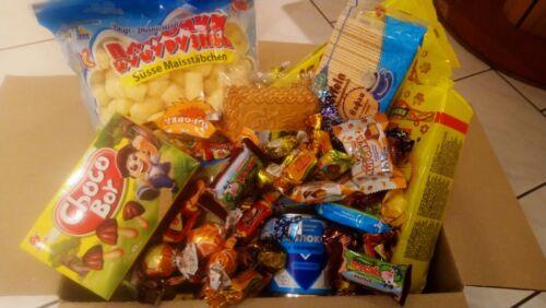 4 Kg Süßigkeitenpaket russisch und polnisch, Süßwaren Konvolut,Naschkarton Party