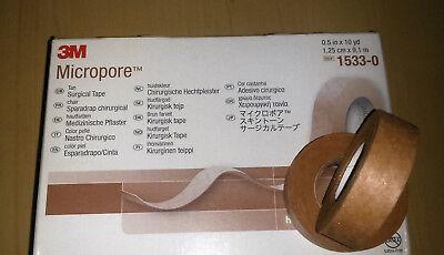 Micropore™ hautfarben Pflaster Heftpflaster hypoallergen 1 Rolle 1,25 x 9,1 m