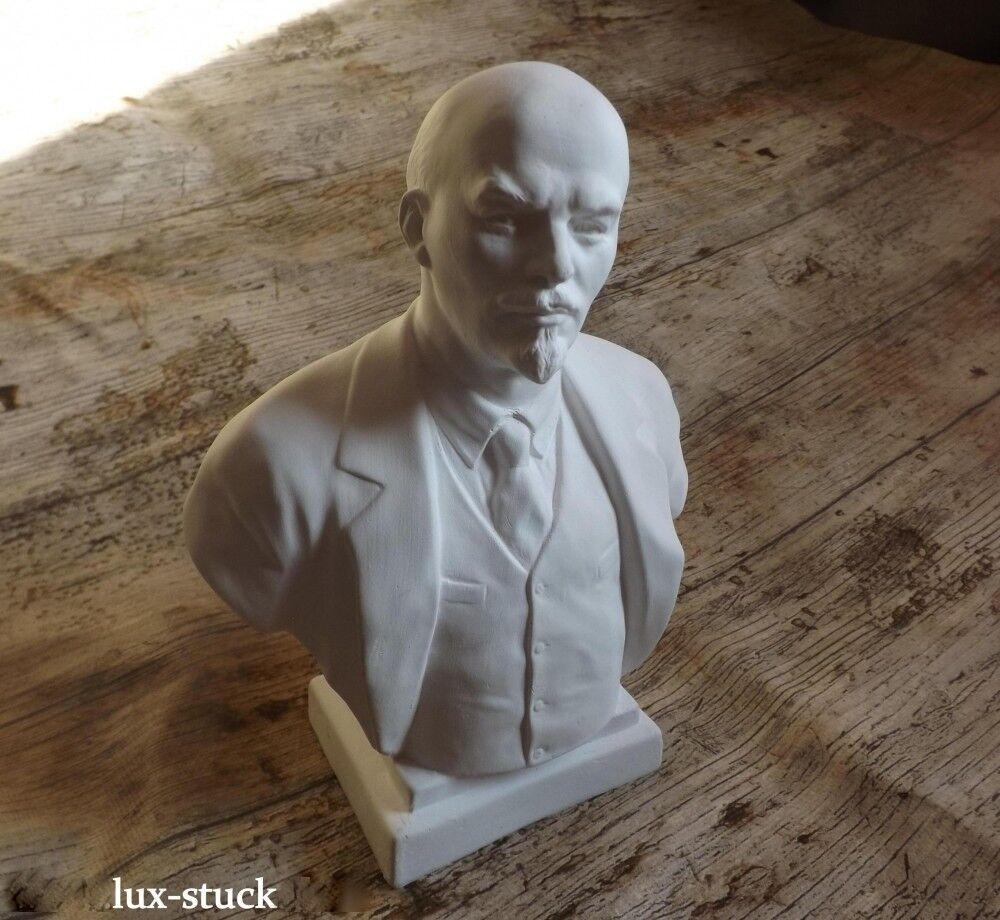 B02 Büste Lenin Gips Figur Skulptur Deko Statue