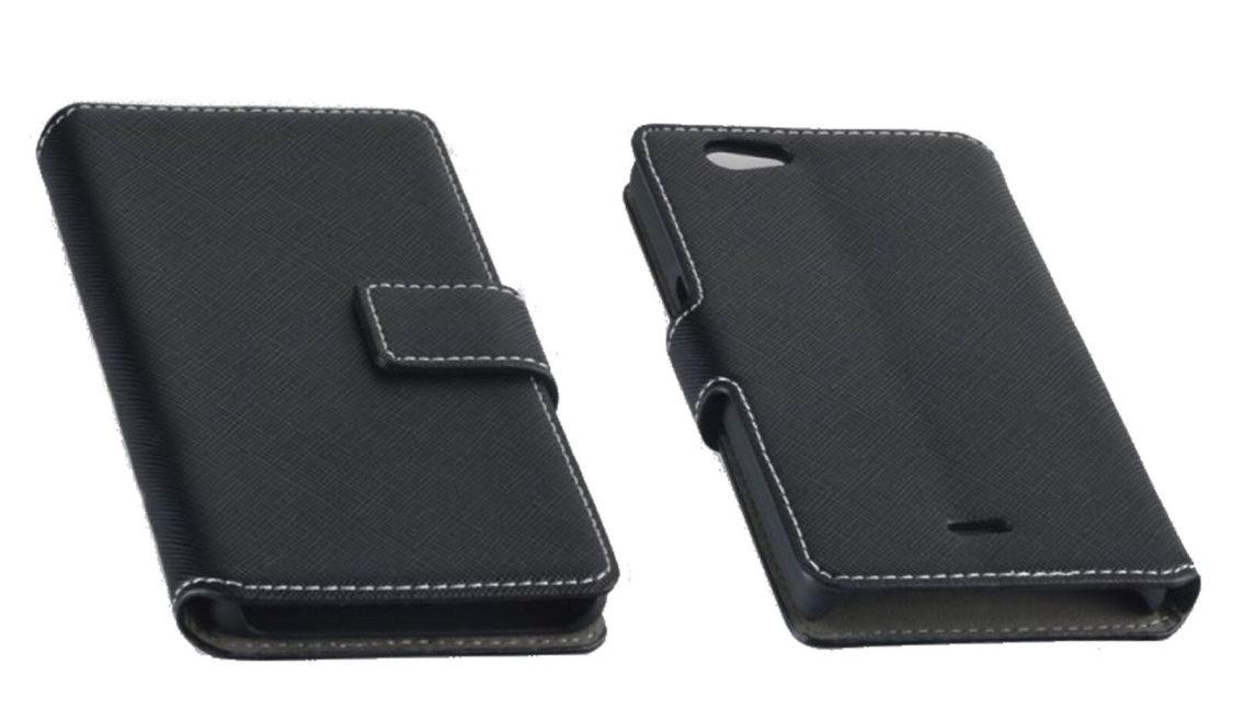 Book Style Tasche Handy Case Etui Cover Schutzhülle  NAS in Schwarz - Auswahl 2