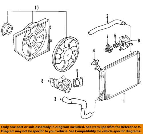 Ford Motorcraft KM4770 OEM 20002004 Focus Lower Radiator