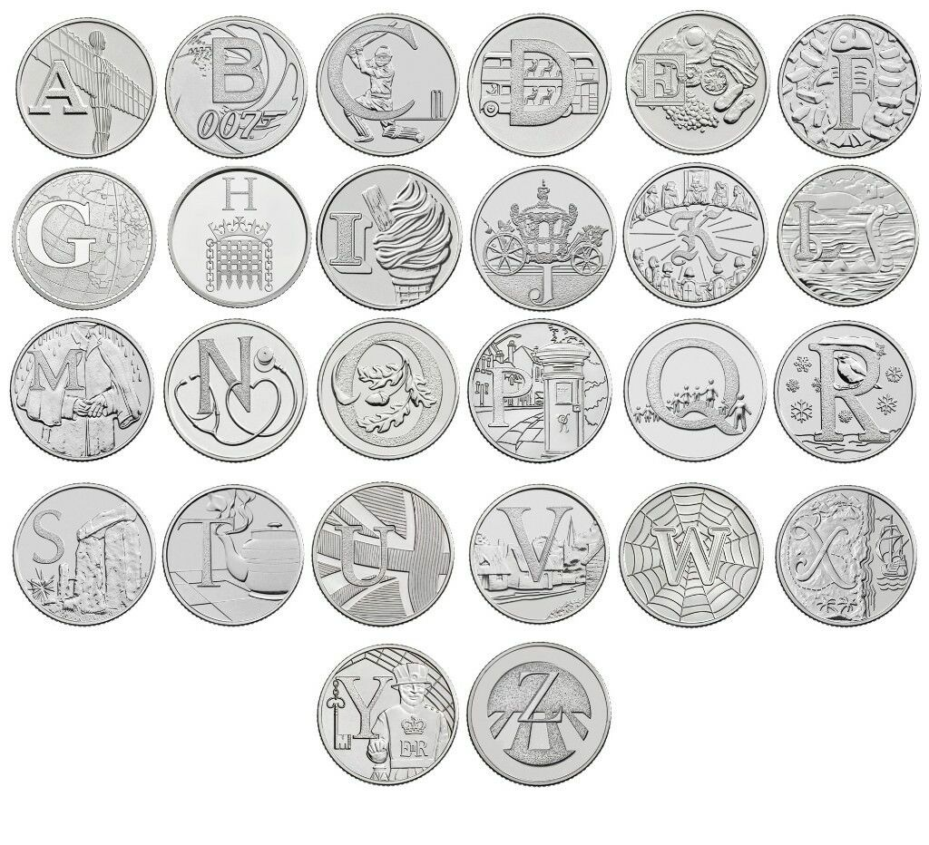 Full Set Of The Alphabet A Z Best Of Britain In 10p