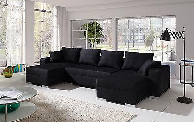 Couch Couchgarnitur Sofa Polsterecke 4112200/1 U Wohnlandschaft Schlaffunktion
