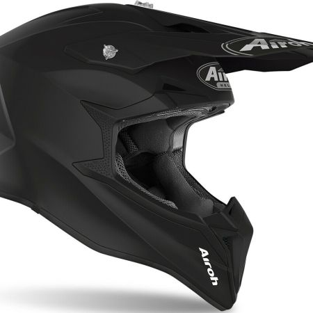 CASCO MOTO CROSS ENDURO MOTARD QUAD ATV AIROH WRAAP NERO MATT 2020 WR11 OPACO