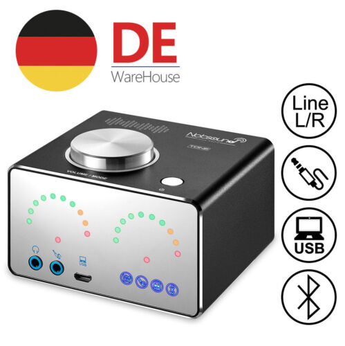 Nobsound Mini Bluetooth Endstufe Stereo Digital Amp 2.0 Kanal Verstärker Schwarz
