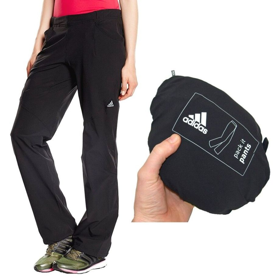Adidas W HT Pack Pant Outdoor-Hose Hiking Traking Wanderhose Damen Schwarz