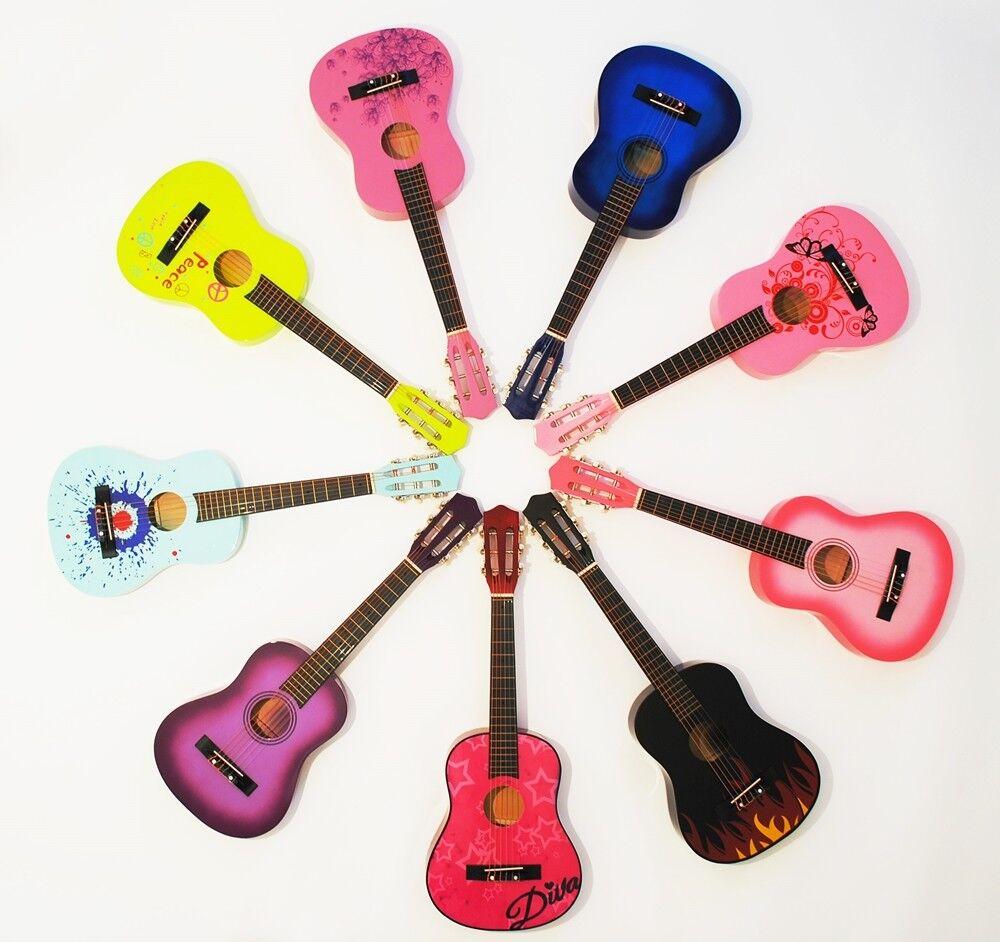 1/2 Kindergitarre Konzertgitarre im neuen Design, verschiedene Modelle