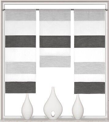 Design Mini Flächenvorhang Set anthrazit grau Schiebevorhang Schiebegardine 2280