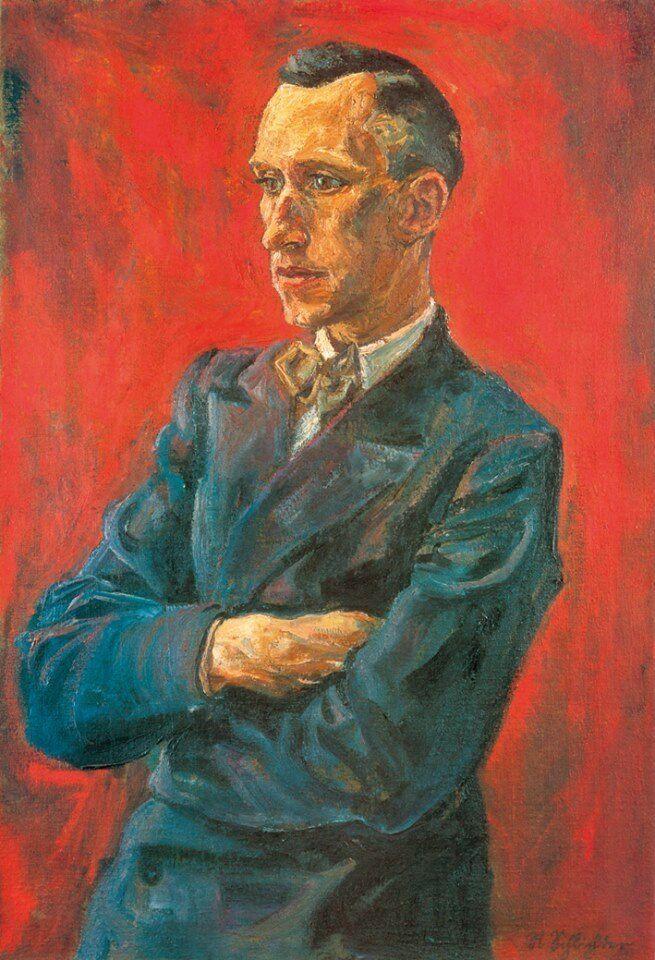 Poster / Kunstdruck Ernst Jünger (1929), Portrait gemalt von Rudolf Schlichter