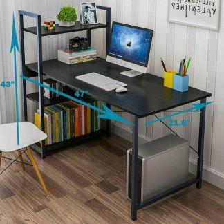 "47"" Wood Computer Desk PC Laptop Table Home Office Study Workstation w/4 Shelves"