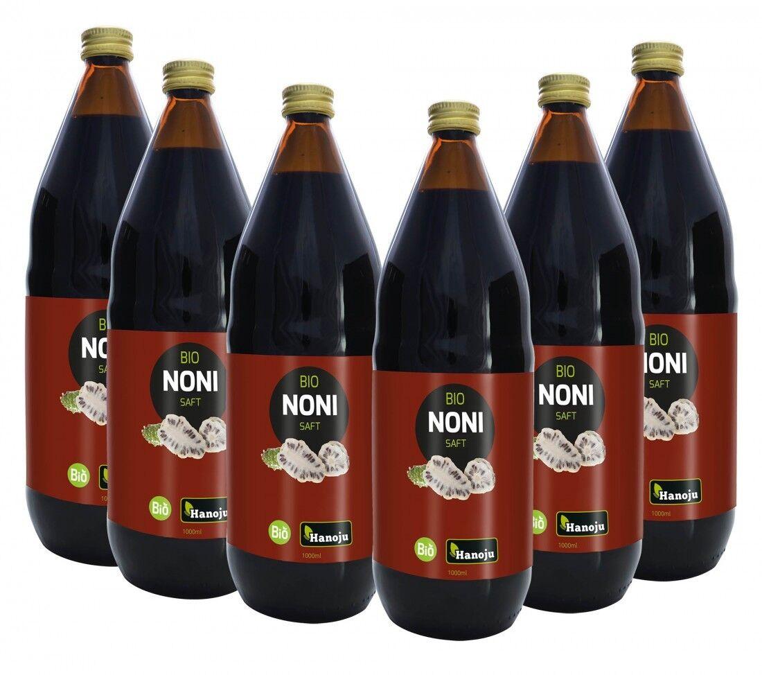 Hanoju Bio Noni Saft,  6 x 1000 ml (17,16€/1l)