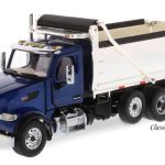 Peterbilt 567 Dump Truck Blue W Chrome Dump Bed 1 50 Scale Diecast Masters 71073 Ebay