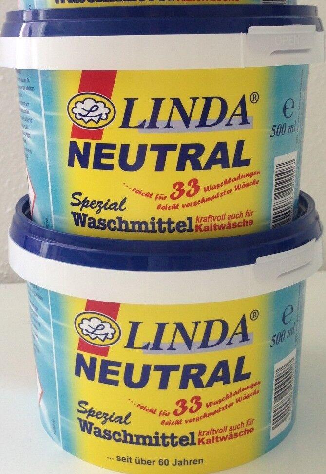 LINDA: Neutral Spezial Waschmittel Feinwaschmittel Feinwaschkonzentrat 2x 500ml