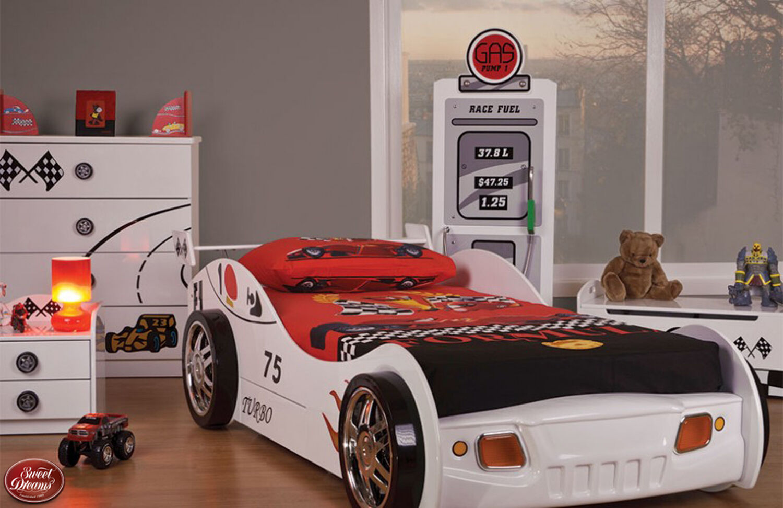 Racing Car Boys Childrens Kids Range Furniture Bedside Chest Toybox Pump Cabinet Ebay
