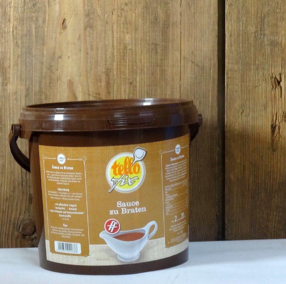 tellofix Sauce zu Braten ff 2 kg Eimer (20 l) dunkle Bratensoße