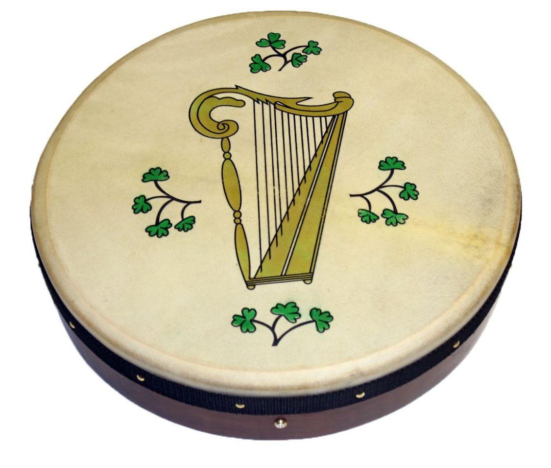 Irish Bodhran mit HARP Logo, 18 x 3,5 Zoll, Stimmbar