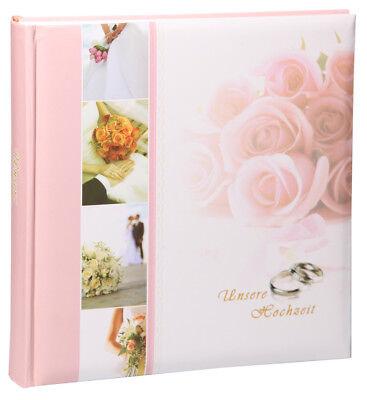 Ringe Hochzeit Fotoalbum in 30x30 cm 100 Seiten Foto Jumbo Album Hochzeitsalbum