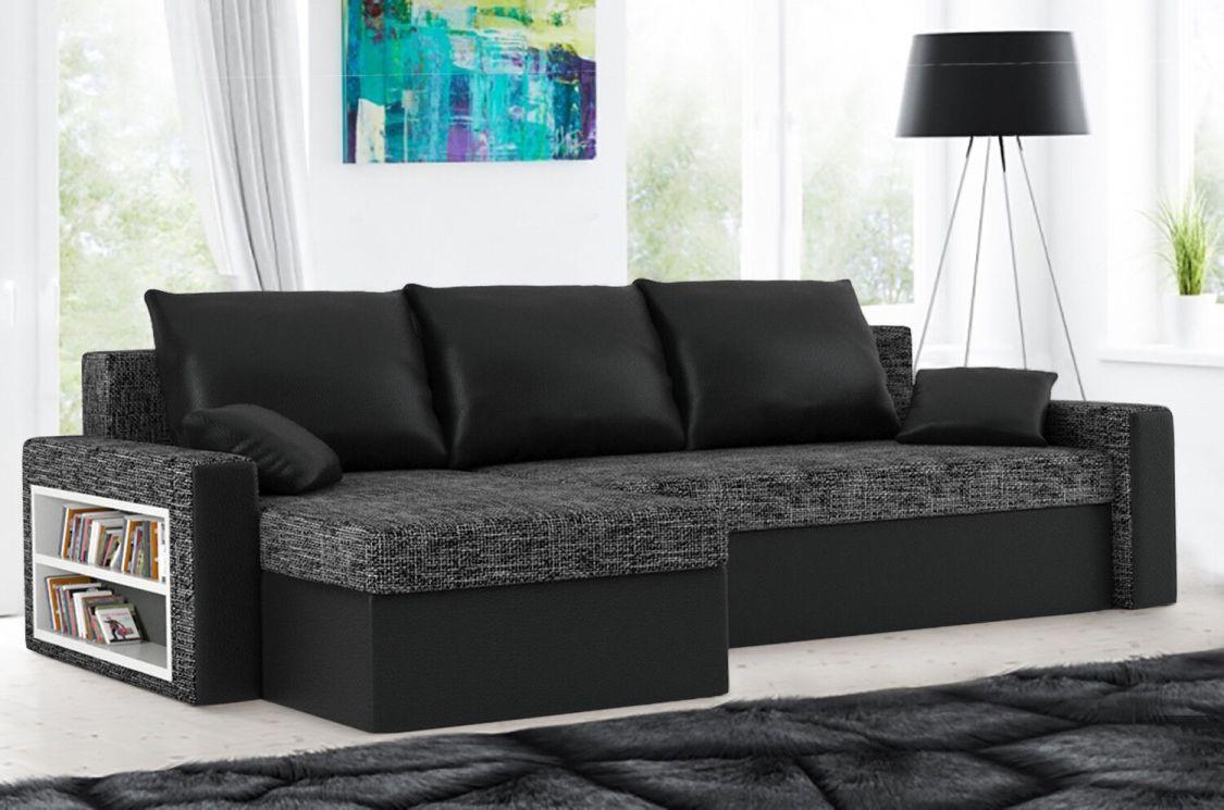 Eckcouch Kippsofa Schlafsofa Sofa Schlafcouch Ecksofa Couch Federkernsitzfläche