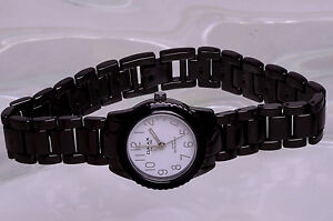 QMAX SINCE 1946 QUARTZ WR HBJ864 LADIES BLACK METALIC ...