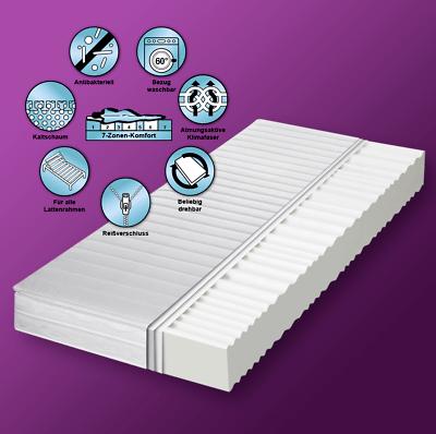 HydroVital Spa Calma Comfort Plus 7 Zonen Premium Memory Kaltschaum Matratze