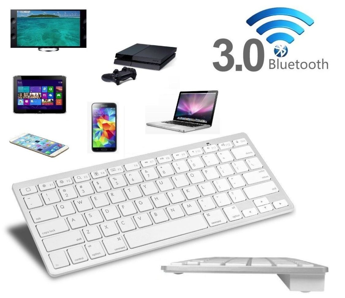 BLUETOOTH TASTATUR KEYBOARD QWERTY FÜR SMART TV FERNSEHER LG SONY SAMSUNG MEDION