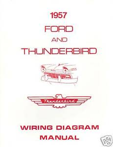 1957 FORD THUNDERBIRD WIRING DIAGRAM MANUAL